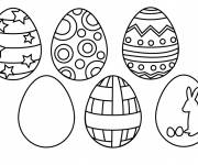 Coloring pages The decoration of Easter Eggs