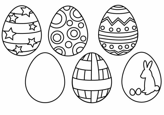 Free coloring and drawings The decoration of Easter Eggs Coloring page