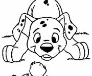 Coloring pages The Easter Dog and Chick