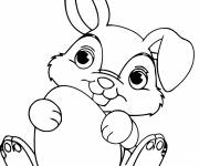 Coloring pages Too cute Easter bunny