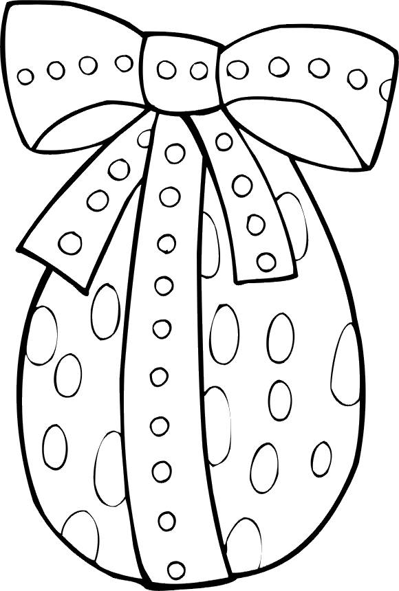 Free coloring and drawings vector easter egg Coloring page