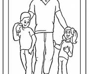 Free coloring and drawings Dad I love you Coloring page