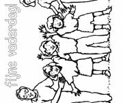 Coloring pages Family and Father's Day