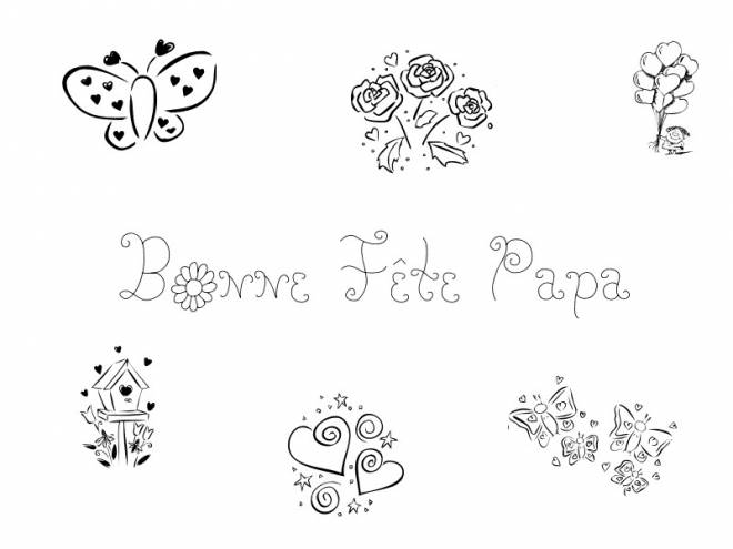 Free coloring and drawings Father's Day celebration Coloring page