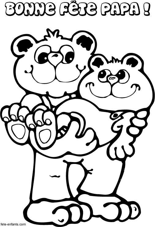 Free coloring and drawings Father's Day coloring Coloring page