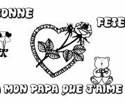 Coloring pages Father's Day greeting card