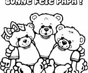 Coloring pages Father's Day in color