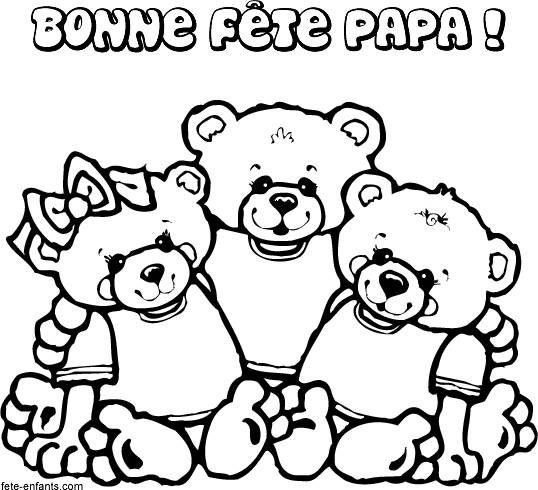 Free coloring and drawings Father's Day in color Coloring page
