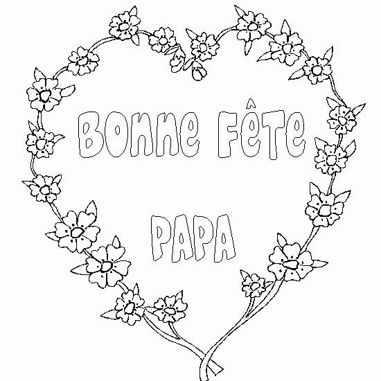 Free coloring and drawings Floral Father's Day Card Coloring page