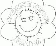 Free coloring and drawings Flower for Dad Coloring page