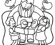 Free coloring and drawings Gifts for Father's Day Coloring page