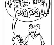 Coloring pages Greeting card to give to Dad