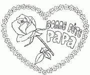 Free coloring and drawings Happy Father's Day Coloring page