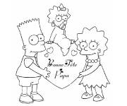 Coloring pages Happy Father's Day Simpsons