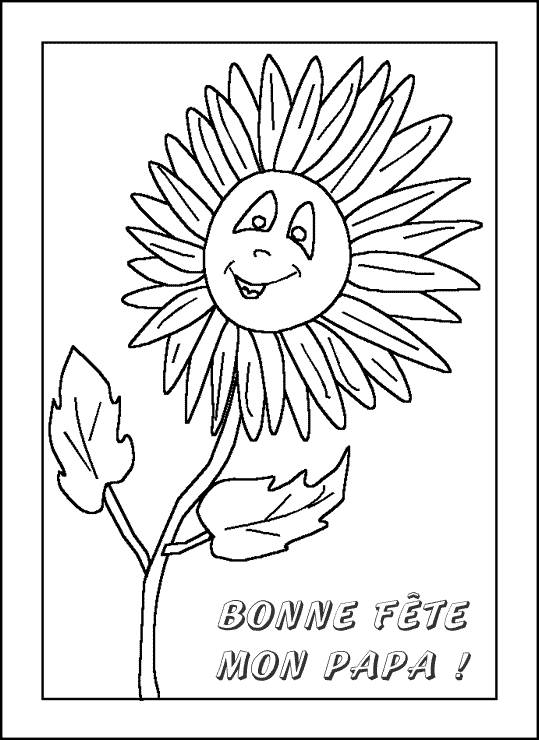 Free coloring and drawings Letter for Father's Day Coloring page