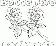 Coloring pages Stylized Father's Day