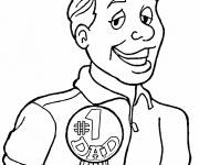 Coloring pages Super Dad's Party
