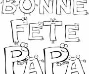 Free coloring and drawings Texts for Father's Day Coloring page