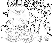 Free coloring and drawings Easy halloween drawing to color Coloring page