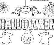 Free coloring and drawings Halloween kids Coloring page