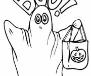Free coloring and drawings Halloween maternal ghost Coloring page