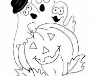Free coloring and drawings Halloween online Coloring page