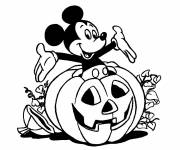 Free coloring and drawings Halloween, pumpkin and Mickey Coloring page