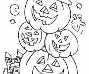 Free coloring and drawings Halloween Pumpkin Man Coloring page