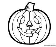 Free coloring and drawings Halloween pumpkin to decorate Coloring page
