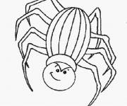 Free coloring and drawings Halloween spider online Coloring page