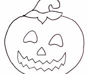 Free coloring and drawings Halloween stylized pumpkin Coloring page
