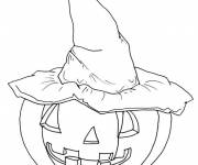 Free coloring and drawings Scary Halloween Pumpkin Coloring page