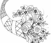 Coloring pages A beautiful bouquet of flowers for the Mother