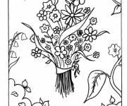 Coloring pages A Bouquet of Flowers for Mom