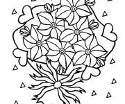 Coloring pages Delightful Flowers for Mom