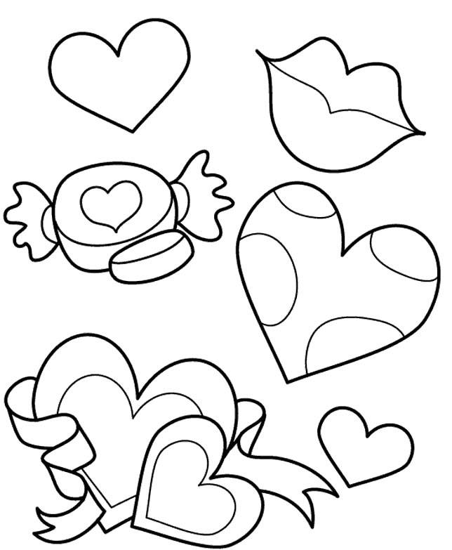 Free coloring and drawings Easy Mother's Day Coloring page