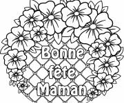 Free coloring and drawings Flowers for Mother's Day Coloring page
