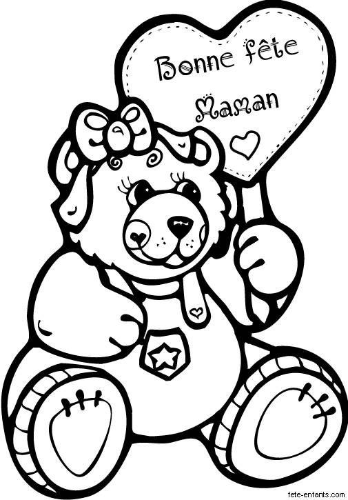 Free coloring and drawings Gift for Mom Coloring page