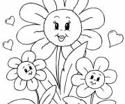 Free coloring and drawings Gorgeous flowers for Mom Coloring page