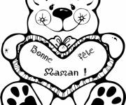 Free coloring and drawings Happy Mother's Day Coloring page