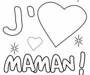 Coloring pages I love you my mother