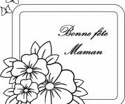 Coloring pages Letter for Mother's Day