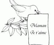 Coloring pages Letter mom i love you