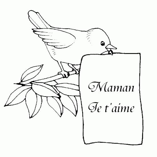 Free coloring and drawings Letter mom i love you Coloring page