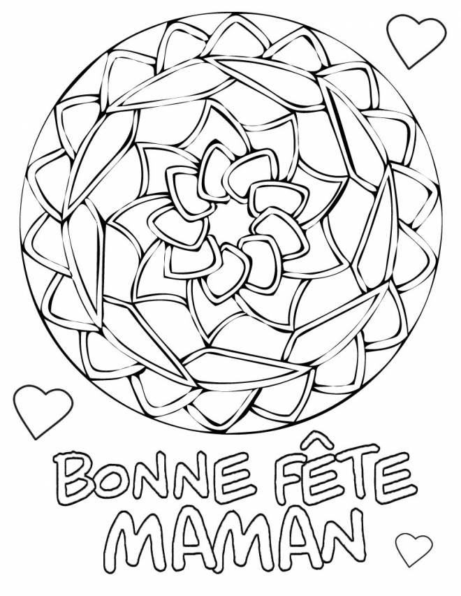 Free coloring and drawings Maternal mother's day Coloring page