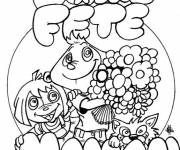 Coloring pages Mother's Day illustration