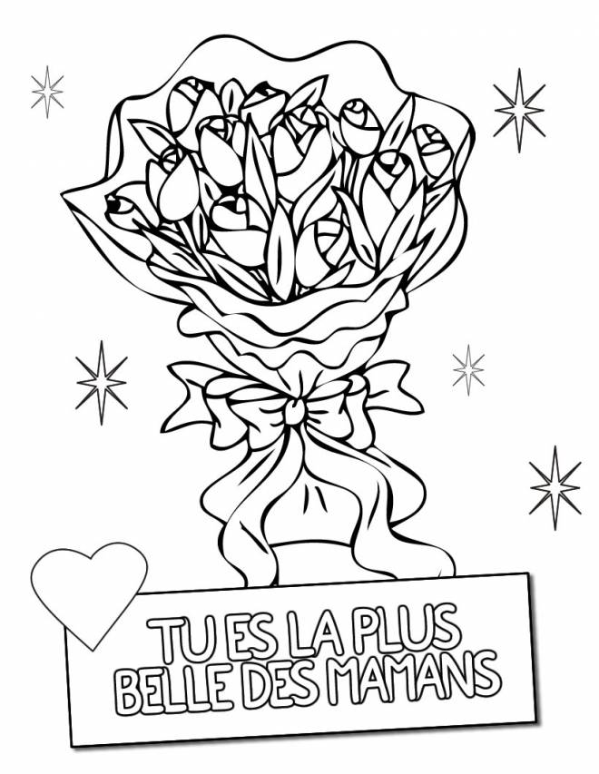 Free coloring and drawings Mother's Day in color Coloring page