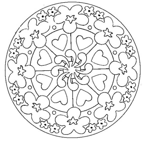 Free coloring and drawings Mother's Day mandala Coloring page