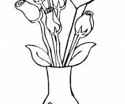 Free coloring and drawings Roses to celebrate Mother's Day Coloring page
