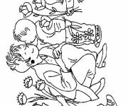 Coloring pages Stylized Mother's Day